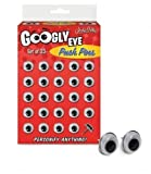 Googly Eye Push Pins, Set of 25
