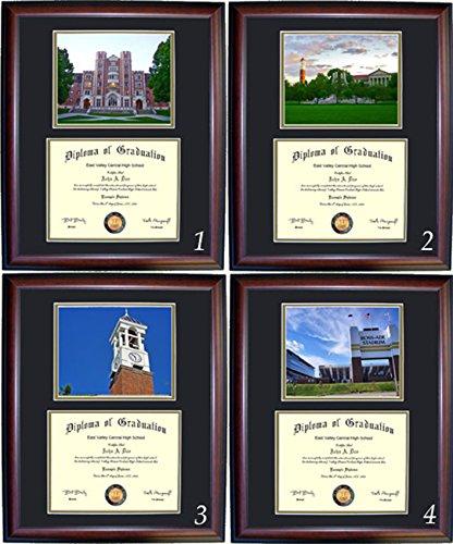 Purdue Diploma Frame - Photo Option #1 - Cherry Frame