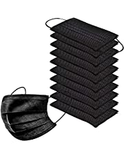 Ships from Canada- Pack of 100 Black Disposable Face Masks, 3-Ply, Ear Loop -Ships from Canada - in Stock (Black)