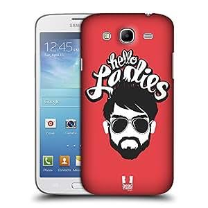 Head Case Designs Hello Ladies Bearded Bravado Protective Snap-on Hard Back Case Cover for Samsung Galaxy Mega 5.8 I9150 I9152