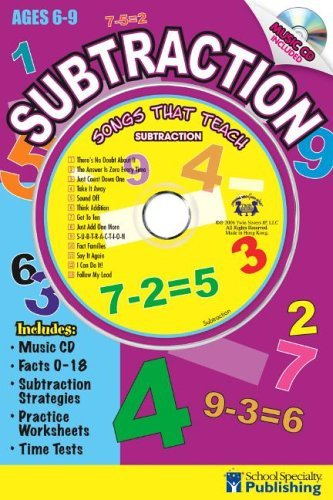 (Subtraction Sing Along Activity Book with CD: Songs That Teach Subtraction by Kim Mitzo Thompson (2006-01-02))
