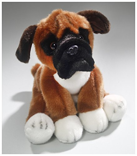 (Carl Dick Boxer Dog 10 inches, 25cm, Plush Toy, Soft Toy, Stuffed Animal 3344)