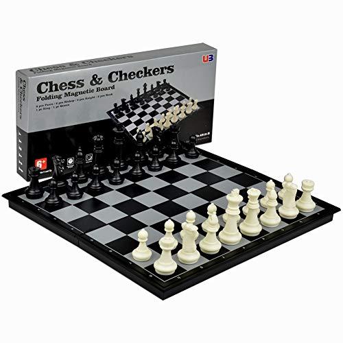 Cozyswan マグネット式折りたたみチェスゲーム 3in1 磁気チェス チェッカー バックギャモン チェス おもちゃ ゲーム 遊び 知育玩具 人気 パーティー 家族 新年 お祝い 祝日 プレゼント