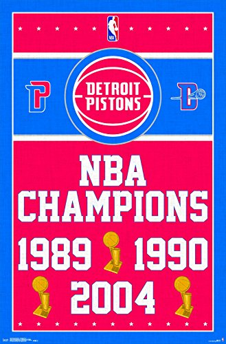 Trends International Detroit Pistons - Champions Wall Poster, 22.375