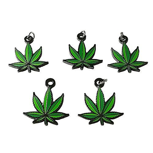 Marijuana Leaf Charms by Smoke Promos (5 Count)