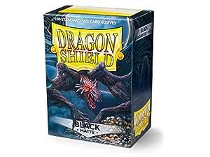 Amazon.com: Escudo de dragón negro mate 100 cartas ...