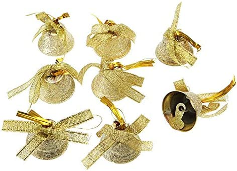 U.WILL Christmas Bells Decorations for Home Christmas Tree Ornaments,bells,GOLD