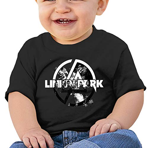 Linkin-Band Park Toddler Baby Boy Round Neck Short Sleeved T-Shirt Tops Tee Clothes Black (Linkin Park Band)