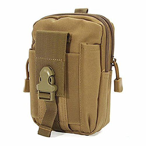 HENWS Outdoor Waist Bag Tactical Smartphone Holster Pouch Pocket Nylon Tactical Waist Mini Pack Camping Hiking Pouch