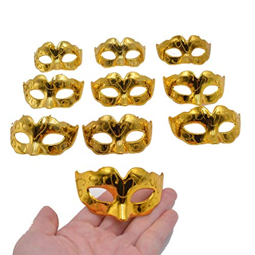 Yiseng Mini Masquerade Masks Party Decorations 10pcs Set