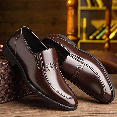 2018 Chaussures Classiques pour Hommes Doux en Cuir PU Slip-on Soft Oxford Business pour Les Hommes Richelieus Homme (Color : Marron, Taille : 41 EU)