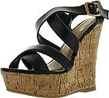 Spirit Moda Ava-1 Women Gladiator Platform Wedges Sandals