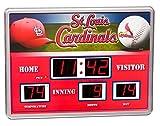Evergreen Enterprises EG0127701B St. Louis Cardinals Scoreboard Wall Clock (Set of 1)