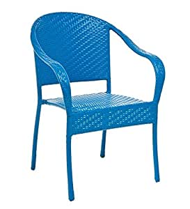 Amazon Com Plow Amp Hearth Colorful Wicker Stacking Chair