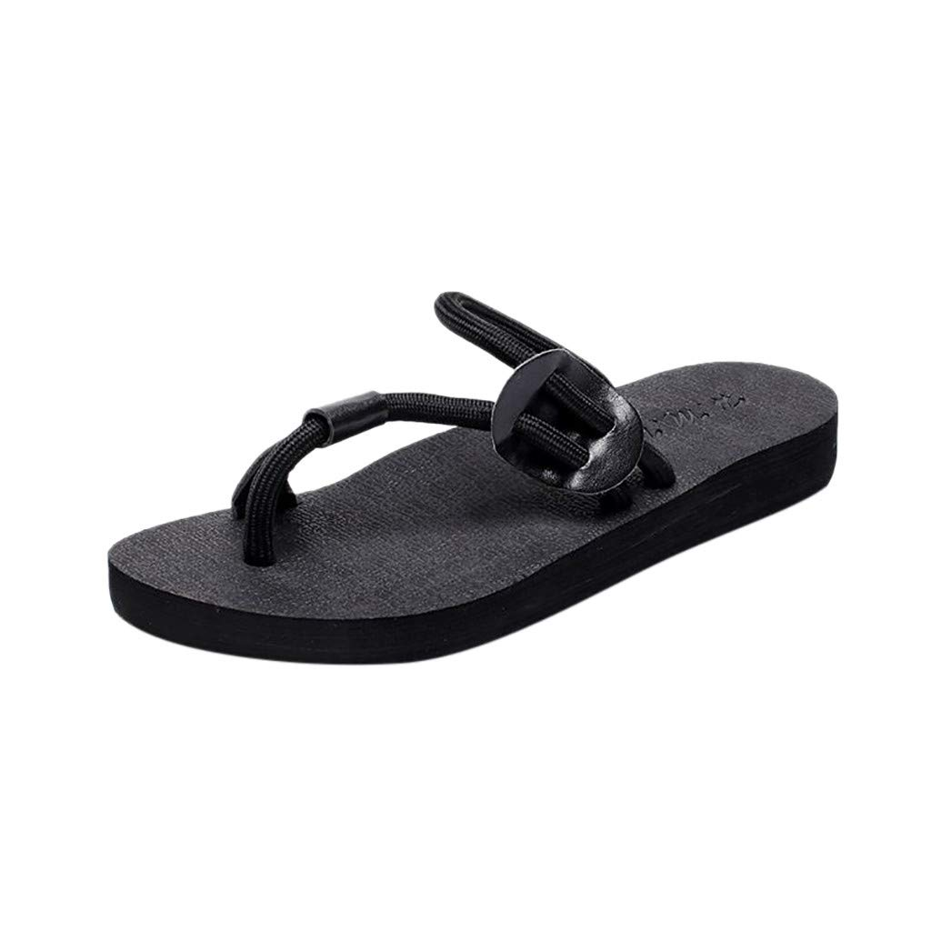 YEZIJIN Women's Ladies Fashionable And Casual Non-slip Beach Shoes And Slippers Shoes Heels Platform Flats Shoes for Women Ladies Girl Indoor Outdoor Clearance Sale Under 10 Dollars 2019