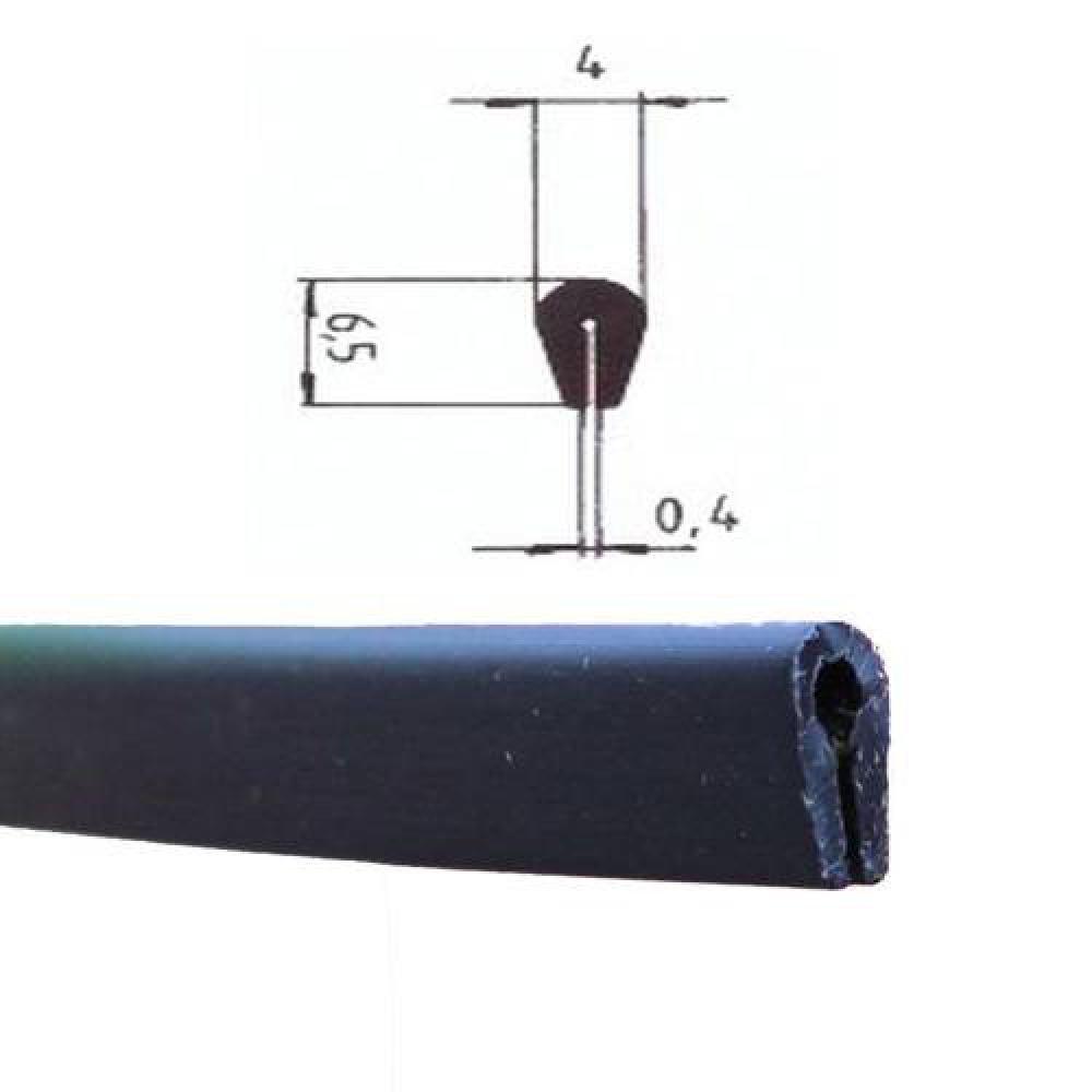 Eutras Kantenschutz, barra di protezione per bordi KSO4004, per bordi tra 0,4 e 1,5 mm, 3 m, Nero, 2044 4e 1 5mm 3m Deutschland