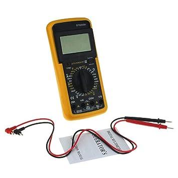 Dt9205 A Voltmètre Multimètre Numérique Ampèremètre Testeur De Capacité 9 V Autres
