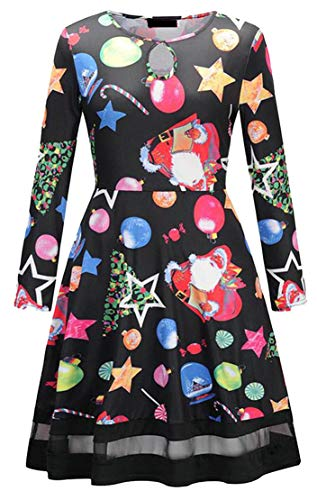 2 Printed Cromoncent Crewneck Casual Keyhole Pleated Dress Floral Christmas s Women HXqTWwpv