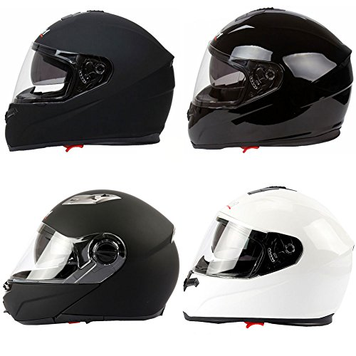 Mach1 Integralhelm Helm Motorradhelm Flip up Klapphelm mit Integrierter Sonnenblende Größe XS bis XXL (Schwarz-matt Flip up, 61-62cm (XL))