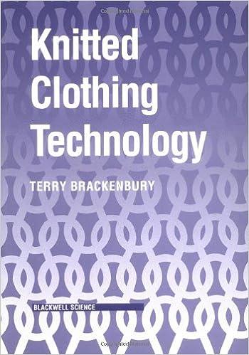 Amazon Com Knitted Clothing Technology 9780632028078 Brackenbury Terry Books