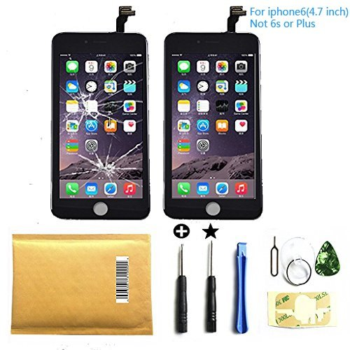 lcd-touch-screen-digitizer-frame-assembly-replacement-set-for-iphone-6-47inch-repair-free-tool-black
