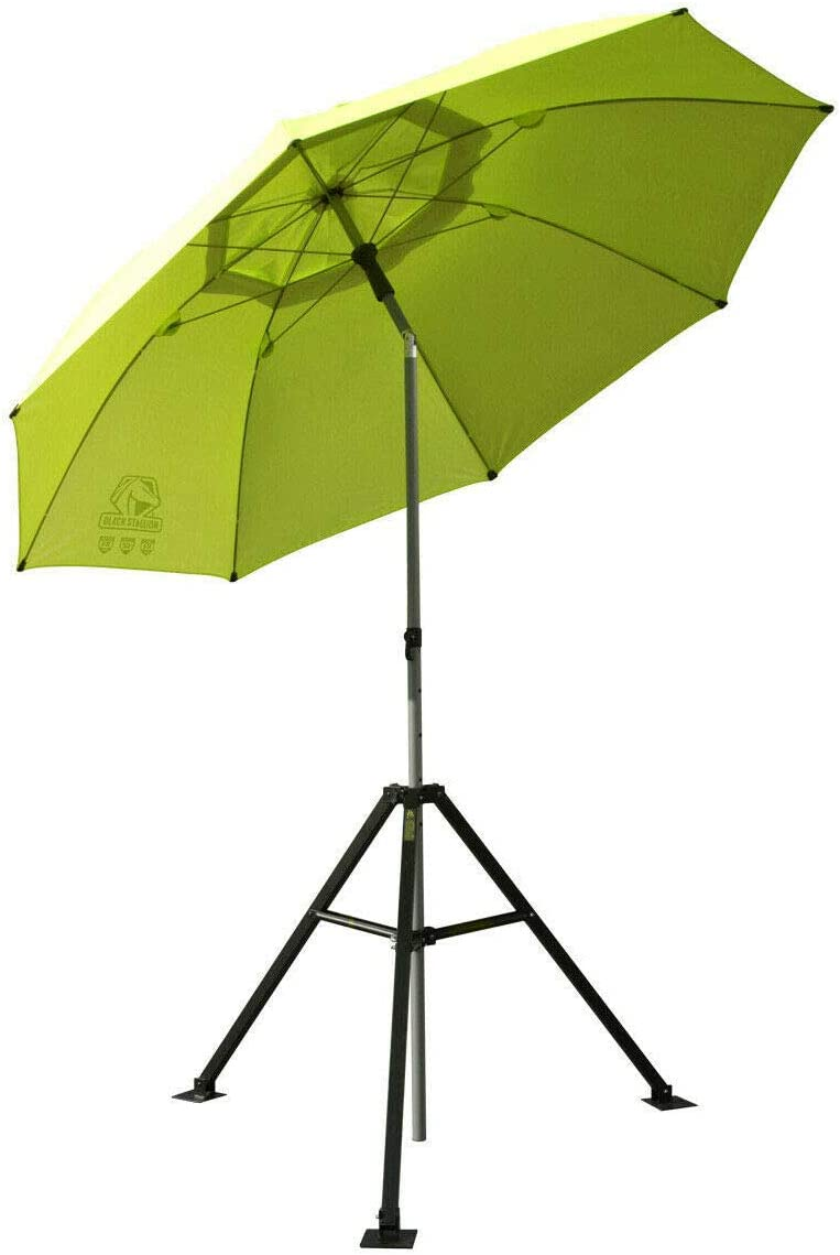 Revco UB-250-Yellow Ub-250 Black Stallion Flame Retardant Umbrella w Stand