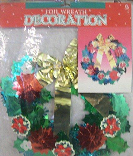 (3 Christmas Foil Wreath Decorations 16