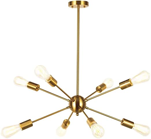 Dongyd Araña, 8 Retro luz Pendiente Industrial la Mesa de Comedor ...