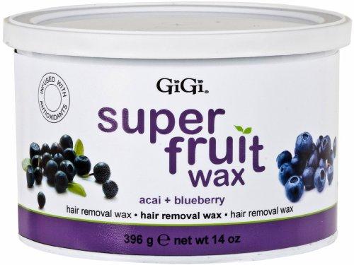 Gigi Super Fruit Wax Acai+Blueberry 14 oz. (Pack of 2)