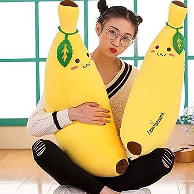 Jzenzero Plush Toys Banana Pillow Long Pillow Sleeping Doll Plush Cute Doll Boy Girl Birthday Present: Kitchen & Dining