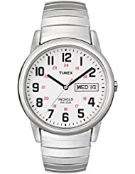 Timex Mens T20461 Easy Reader Silver-Tone Stainless Steel Expansion Band Watch