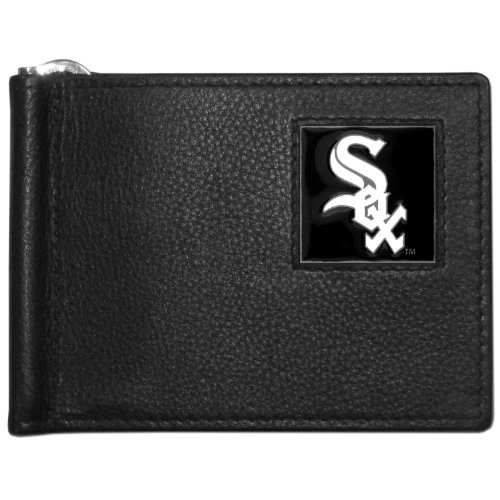 (MLB Chicago White Sox Leather Bill Clip Wallet)