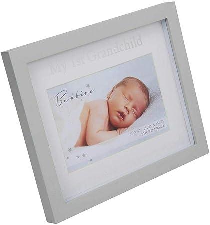 The Gift Experience 4 x 4 Bambino Resin Baby Girl Photo Frame