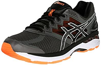 ASICS Men's GT 2000 4 Running Shoe, Carbon/Black/Hot Orange, 6 B US