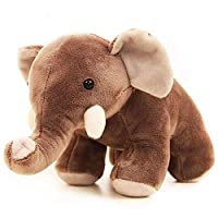 OuMuaMua Lovely Stuffed Animal Toys Gift - Cute Plush Elephant Dolls, Animated Brown Elephant for Babies Infants Toddlers Kids, 10