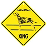 KC Creations Dalmatian Xing Caution Crossing Sign Dog Gift