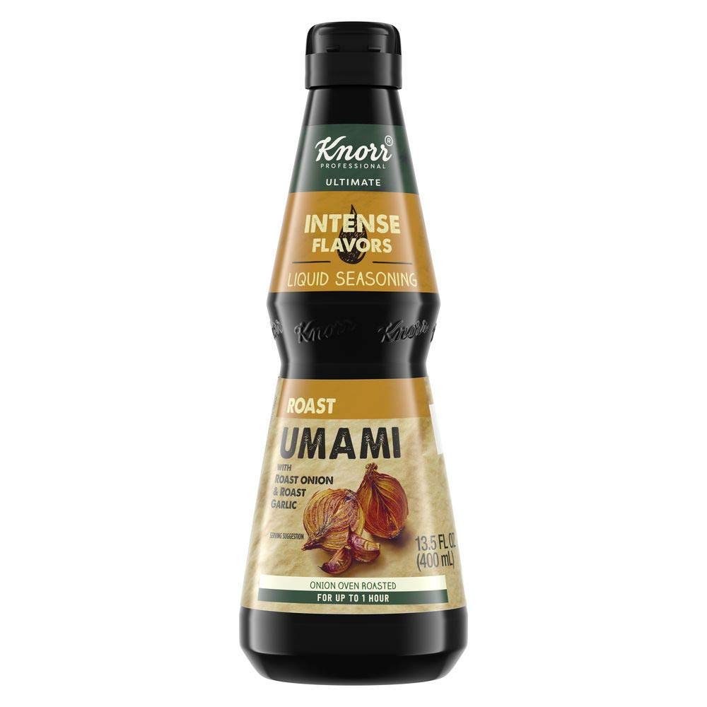 Knorr Professional Ultimate Intense Flavors Roast Umami Liquid Seasoning Vegan, Gluten Free, 13.5 oz, Pack of 4