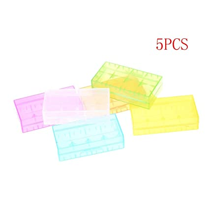 1//5Pcs plastic hard Battery Case Box Holder Storage box for CR123 18650-16340