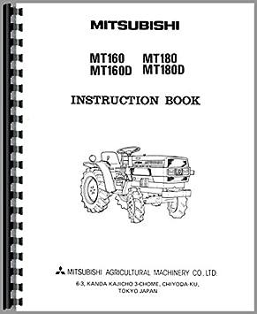 mitsubishi mt180d tractor operators manual amazon co uk garden rh amazon co uk mitsubishi m70 operator manual mitsubishi fg25 operators manual