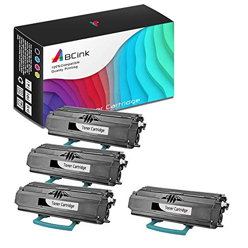 - ABCink Compatible Toner Cartridge Replacements for Lexmark 23800SW 23820SW,for use in Lexmark E238,6000 Yields(4 Pack,Black)