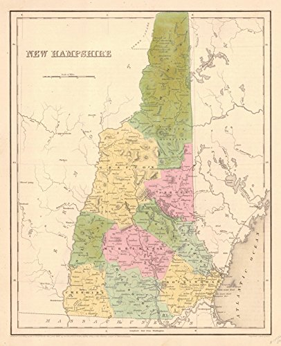 Historic Map | 1841 New Hampshire | Bradford, T.G. and S.G. ()
