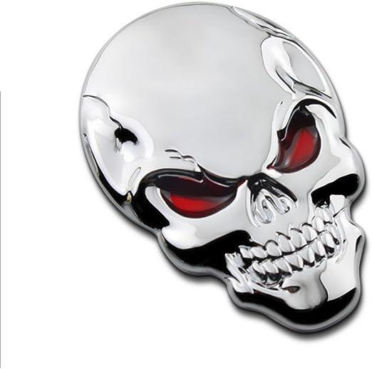 Winomo Auto Aufkleber Totenkopf Skull Autoaufkleber 3d Metall Schädel Autoaufkleber Auto Styling Dekoration Baumarkt