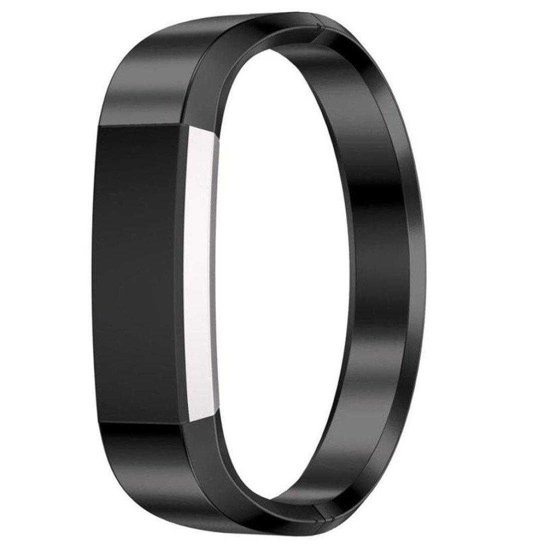 dreamythステンレススチール時計バンド手首ストラップfor Fitbit ALTA HR Smart Watch B073W4F86Y ブラック