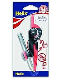 Helix Plastic Locking Compass, Red/Black (33325)