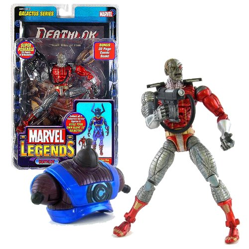 Marvel Toy Biz Year 2005 Legends Galactus Series 6 Inch Tall Action Figure - DEATHLOK with 39 Points of Articulation and Galactus' Upper Torso Plus Bonus 32 Page Comic Book