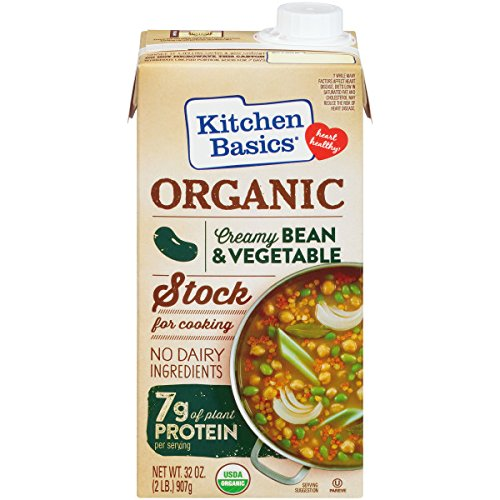 Kitchen Basics Organic Creamy Bean & Vegetable Stock For Cooking, 32 (Basic Vegetable Stock)