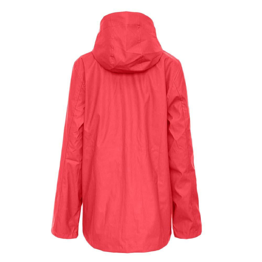 Womens Waterproof Raincoat Outdoor Hooded Rain Jacket Windbreaker,Womens Lightweight Waterproof Rain Jacket Amiley
