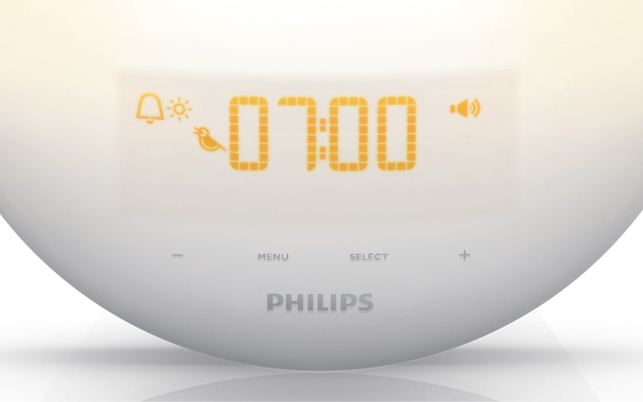 Philips Wake-Up Light with Sunrise Simulation alarm clock and Sunset Fading Night Light, White HF3510 by Philips (Image #2)