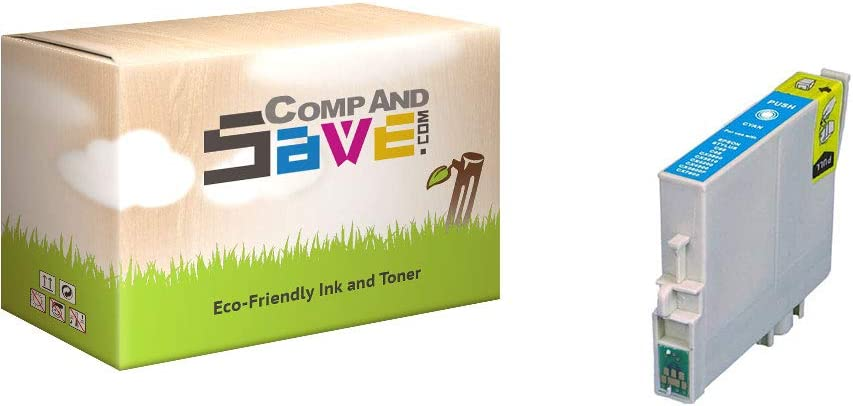 CompAndSave Replacement for Epson Stylus CX7800 Printer Inkjet Cartridge Epson T060220 Cyan Ink Cartridge