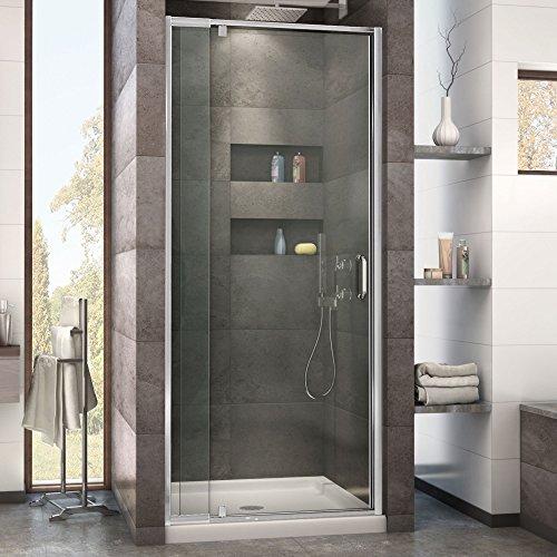 DreamLine Flex 28-32 in. Width, Frameless Pivot Shower Door, 1/4